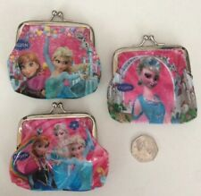 Kids Frozen Anna & Elsa Purses Party Bag Gifts Stocking Fillers X3 Pink Purses