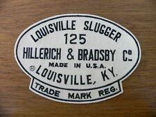 """Louisville Slugger Embroidered Felt 8"""" Patch~Hillerich & Bradsby~NOS~bat"""