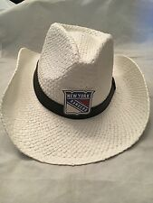 New York Rangers NEW White Adult Cowboy Hat . NHL Hockey Cowgirl Fashion Rodeo