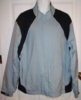 Footjoy FJ Dryjoys Golf Jacket Light Blue Gray Black XL Windbreaker Lined Wind