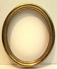"""8 X 10 ITALIAN Made GOLD LEAFED OVAL STANDARD PICTURE FRAME 1 1/4"""" WIDE"""