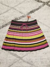 MISSONI FOR TARGET Girls Chevron ZigZag Pleated Sweater Skirt Medium 6-7 MULTI