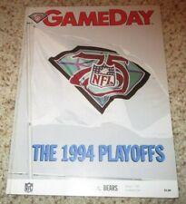 1995 San Fransisco 49'rs vs, Chicago Bears Play-off Program - 1/7/1995 Game