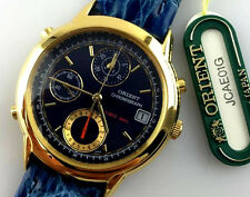 OROLOGIO ORIENT CHRONOGRAPH VINTAGE WATCH QUARZ JCAE01G DATA 10 BAR