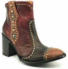 Old Gringo Ladies Cheryl Short Chocolate & Red Shortie Boots BL3194-1