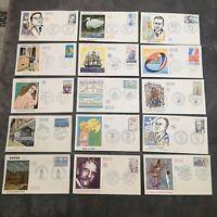 FRANCE FDC Lot 15 Enveloppes Année 1975 1er Jour - Collection Timbre Poste