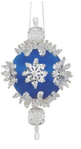 Sunrise BLUE SPARKLING SNOW Set of 4 -  Beaded Sequin Ornaments Kit - NEW
