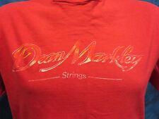 vintage 80s DEAN MARKLEY STRINGS T-Shirt LARGE guitar classical music rock soft