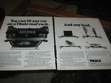 Thule Car Roof Rack advert with Ford Escort reg no. B73WYX