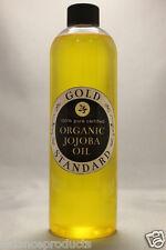 100% PURE ORGANIC 12oz CERTIFIED GOLDEN JOJOBA OIL COLD PRESSED UNREFINED 12oz
