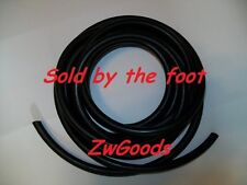 """1/8"""" I.D x 1/8"""" w x 3/8"""" O.D < By The Foot > Surgical Latex Rubber Tubing Black"""