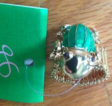 NWT Lilly Pulitzer Ladies Frog Cocktail Ring Jewel Green Hop To It Stretch Band