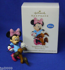 Hallmark Ornament Disney Mickey Mouse Tangled Up in Fun 2012 Minnie Fifi Dog NIB