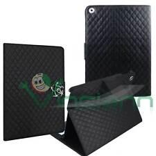 Custodia cover Nera BOOK STAND per iPad Air 5 case trapuntata porta schede