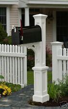 Mayne Newport Plus Mailbox post, mailbox , white post, black mailbox