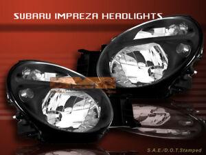 2002-04 SUBARU IMPREZA WRX TS RS WAGON BLACK HEADLIGHTS