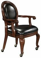 Howard Miller 697-013 (697013) Niagara Club Chair w Seat Cushion, Rustic Cherry