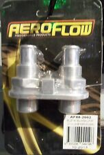 Aeroflow Billet 2 Port A/C Bulkhead Polished