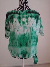 NWT.Ladies michael kors multi color short sleeve boatneck blouse;P/S