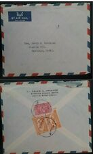 1961 Saudi Arabia Airmail Cover ties 3 stamps canc Jedda to Chile