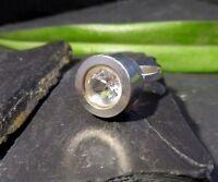 Designer 925 Silber Ring CNP Claus Klinkenheil Pforzheim Großer Bergkristall Top