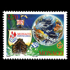 Monaco 1998 - International Year of the Ocean Ships - Sc 2078 MNH