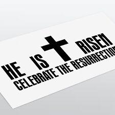Joyeuses Pâques foi chrétienne il est ressuscité Vinyl Decal Sticker/RELIGIEUX/JESUS/VOITURE