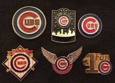 Set of 6 MLB Chicago Cubs Collector Pins~Peuter~Airforce~Logo~#1 Fan~Crossbats