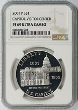 2001-P Capitol Visitor Center Modern Commemorative Silver $1 PF 69 Ultra Cam NGC