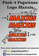 Pegatina MAXXIS Pack 4 Sticker Vinilo Adehsivo coche, moto, casco, llantas