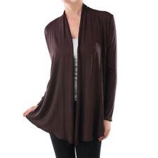 USA Women Long Sleeve Cardigan Open Front Draped Solid Casual Irregular Hem