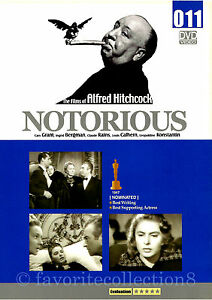 Notorious (1946) - Alfred Hitchcock, Ingrid Bergman, Cary Grant (Region All)