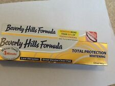 Beverly Hills Formula total protection whitening  toothpaste 2 x 125ml/170g BNIP