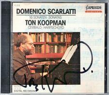 Ton KOOPMAN Signiert SCARLATTI 16 Harpsichord Sonata Cembalo Sonaten CD