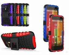 Shock Proof Heavy Duty Builders Case with Stand & Tempered Glass Samsung & Nokia