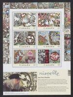 Canada souvenir sheet Art - Riopelle 2003  #2002 (sheet of 6) MNH