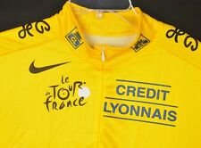 Nike Le Tour de France Credit Lyonnais Cycling Jersey XXL Made in Italy 1/4 Zip