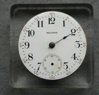 Waltham nickel pocket watch movement for parts, 15 jewels, safety pinion 9620358