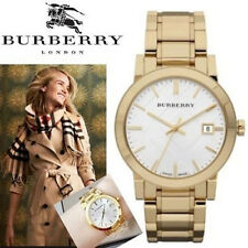 NEW Burberry Watch  Swiss Gold Ion-Plated Stainless Steel Bracelet 38mm BU9003