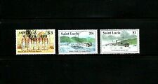 St Lucia -- 3 diff used commemoratives from 1997 -- cv $10.30