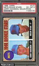 1968 Topps #177 Nolan Ryan New York Mets RC Rookie HOF PSA 6 EX-MT