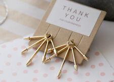 Fashion Jewelry Spike Ear Jacket Arrow Punk Claw Gold Double Sided Earrings