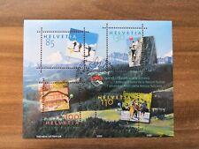 Schweiz, Sonderblock 39, 100 Jahre Naturfreunde Schweiz, Ersttag / Canceled FD