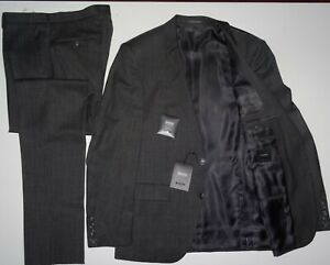 NEU HUGO BOSS T-Howard4 Court5 Gr.50 L ANZUG Tailored Grau Italy 40R Suit Gray