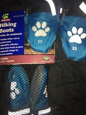 "Dog Hiking Boots Color Blue X-small Reflective Strap Rubber Sole 2.25""  New"