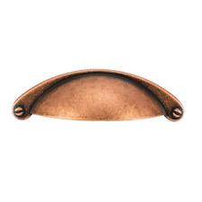 5 x CUP HANDLE COPPER KITCHEN CABINET CUPBOARD DOOR BEDROOM DRAWER PULL HANDLE
