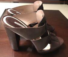 Vera Wang Lavender Label Heels Sandals Leather Brown 38 7.5