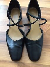 Madeline 9 Medium Black Mary Janes Double Strap Chunky Block Heel Shoes