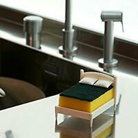 Sponge Soap Storage Holder Stand Bed Shape Scouring Cloth Organizer Rack