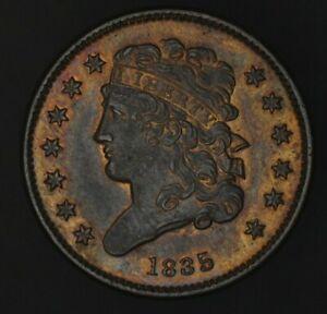 1835 Classic Head Half Cent Beautiful Mint Luster! Well Struck Denticles !